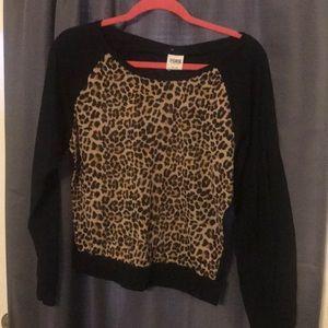Victoria secret pink brand leopard long sleeve